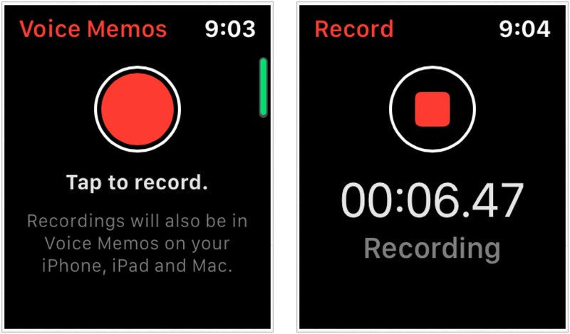 Apple Watch voice memos