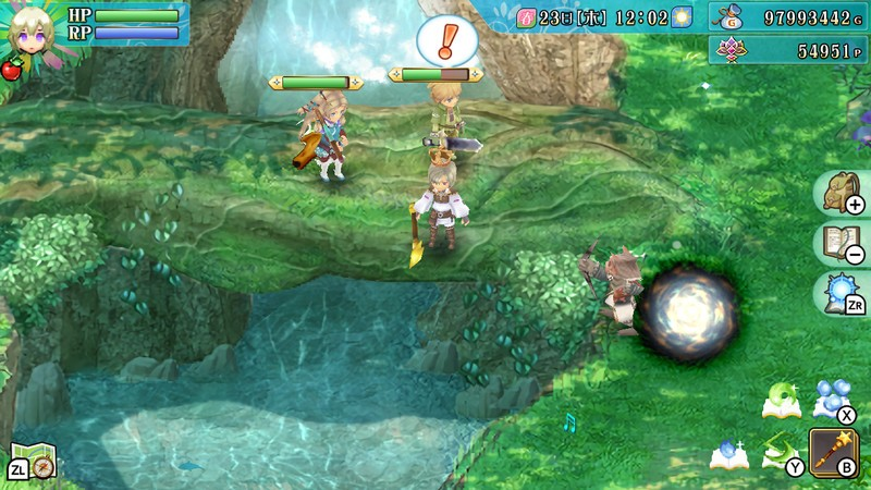 Dungeon crawling in Rune Factory 4