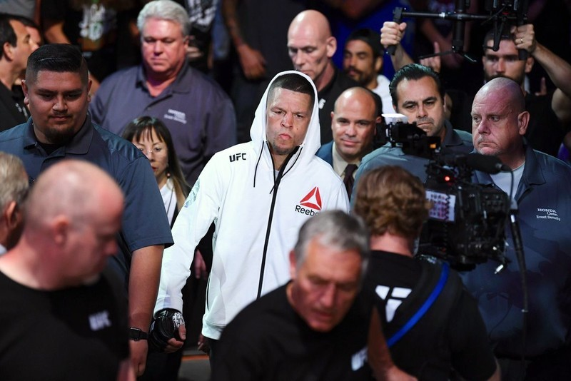 Nate Diaz walking out to fight