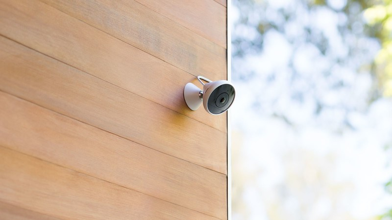 Logitech Circle 2 Camera mounted outdoors on a home.