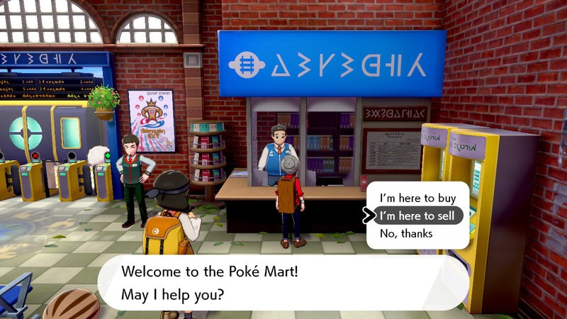 Pokemon Sword and Shield Shop Keeper