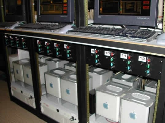 Apple G4 Cubes used on Enterprise set