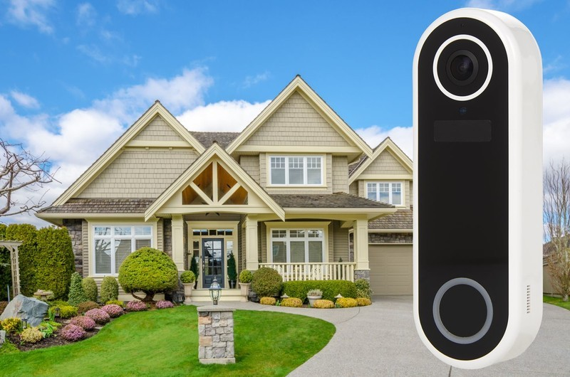 Array by Hampton Video Doorbell positioned in front of a home