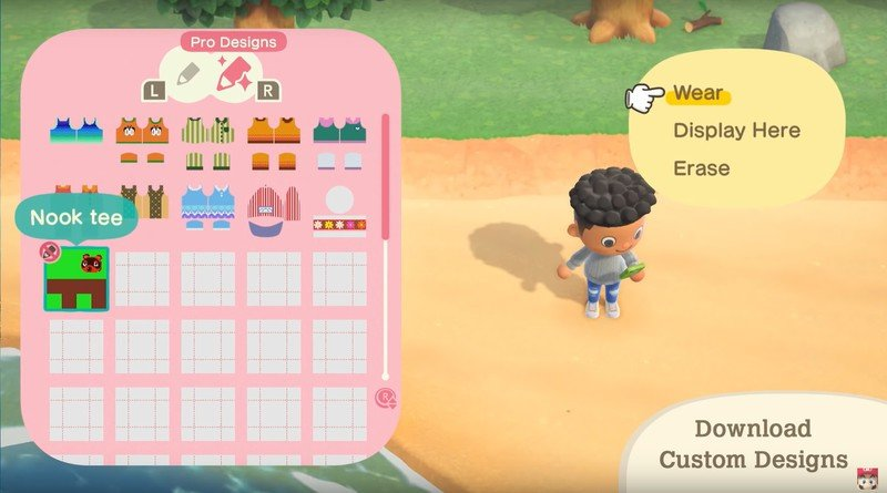 Animal Crossing New Horizons Nooklink Custom Designs