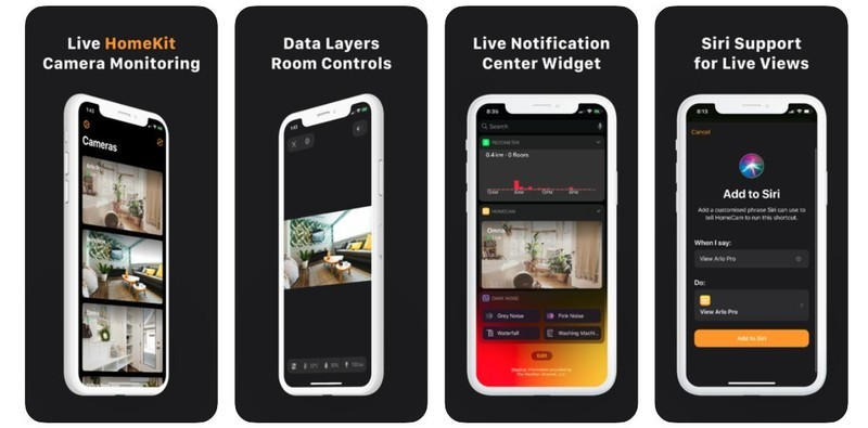 Homecam 2.0 Update App Store Screenshots