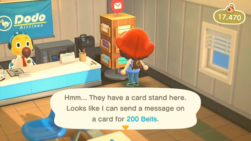 Animal Crossing Send Postcard