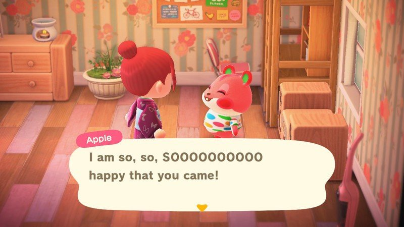 Animal Crossing New Horizons Personalities Peppy Apple