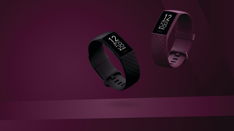 Product laydown photography for Fitbit Charge 4.