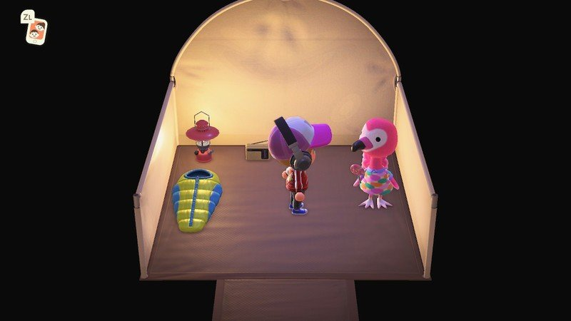 Acnh How To Scan Amiibo: Head to the campsite and enter the tent