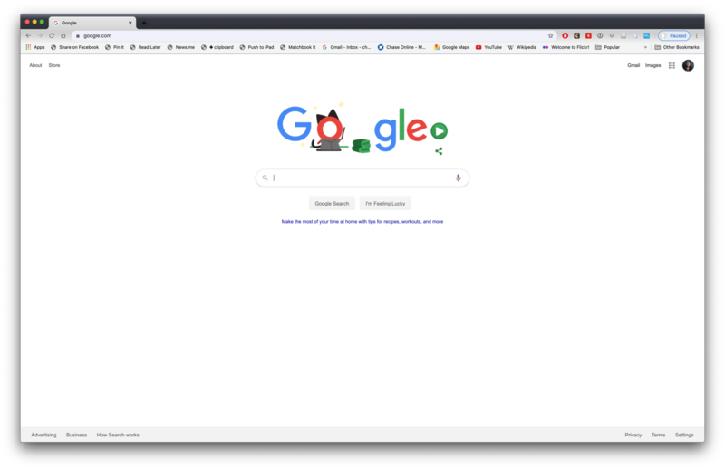 Google Chrome Screen
