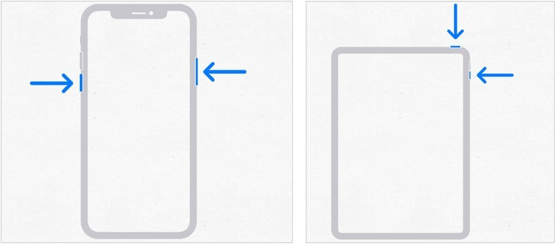 Steps to restart iPhone or iPad