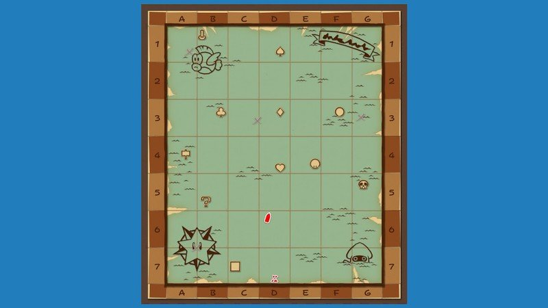 Paper Mario All Toads Great Sea Map