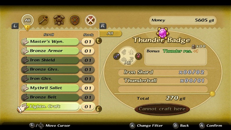 Final Fantasy Crystal Chronicles Remastered Edition Handwerk