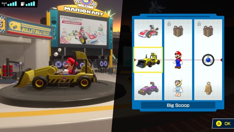Mario Kart Live Home Outfit Selection