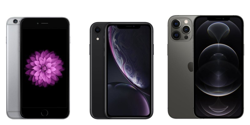 iPhone 6 Plus, iPhone XR, iPhone 12 Pro Max