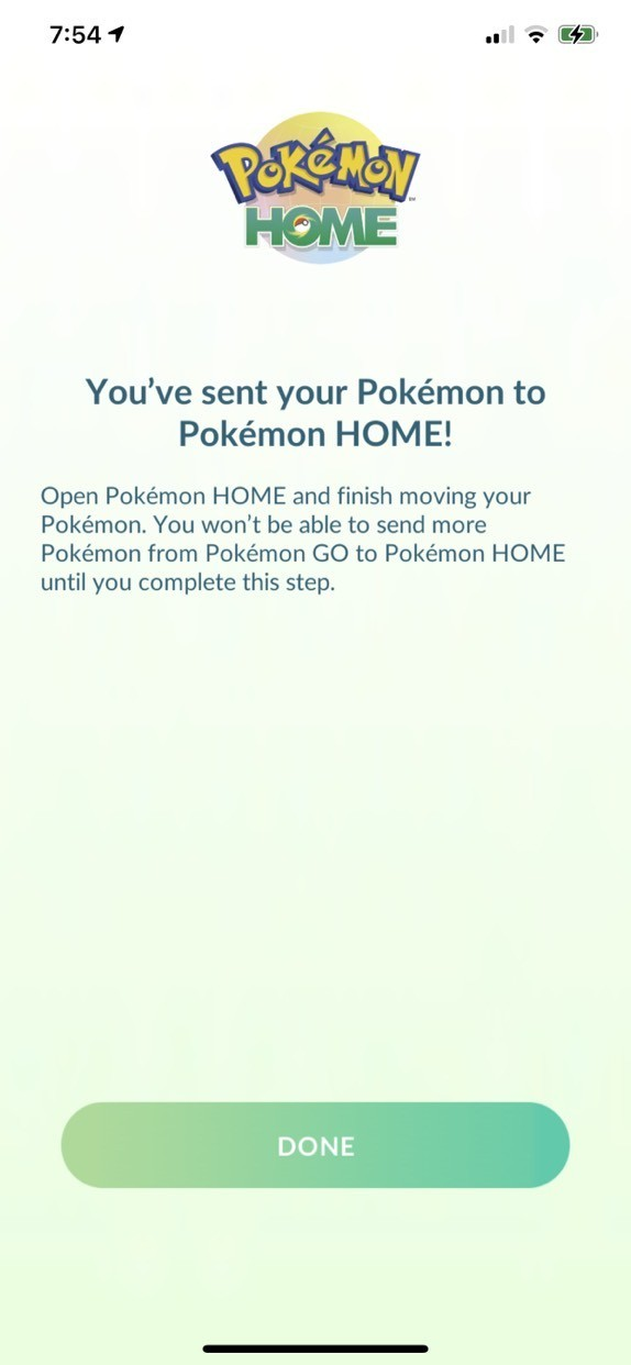 Pokemon Go Pokemon Home Transferring Pokemon