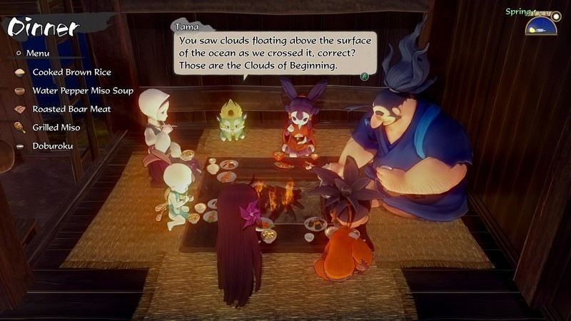 Sakuna Of Rice And Ruin family meal