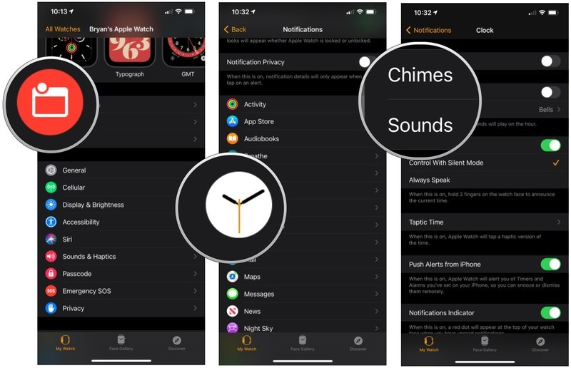 To customize Clock notifications, launch the Apple Watch app, tap Notification, then select Clock.