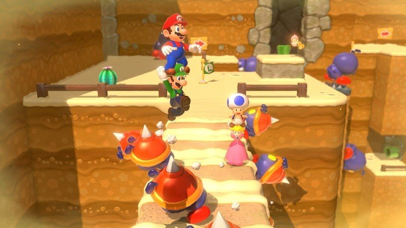 Super Mario 3d World Mario Luigi Peach Toad
