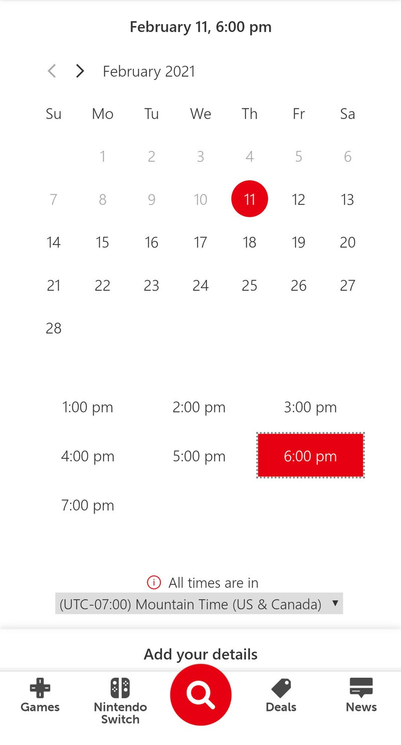 Nintendo Switch Concierge Date And Time