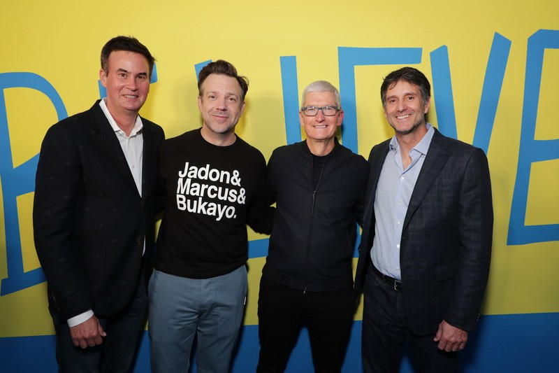 Tim Cook joined the 'Ted Lasso' cast for a private screening of season 2