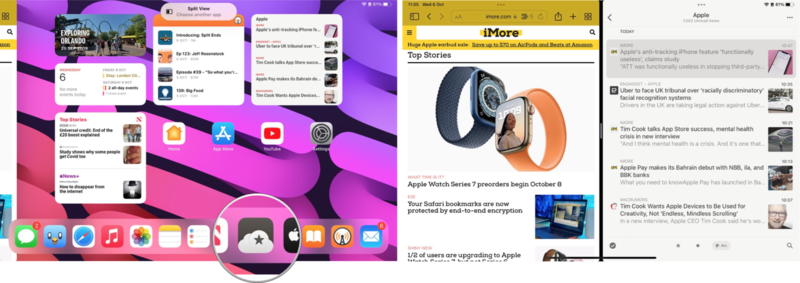 How to use Split View or Slide Over in iPadOS 15: Select the second app you wish to open