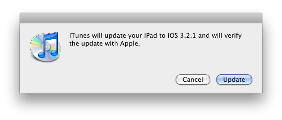 iOS 3.2.1 for iPad released