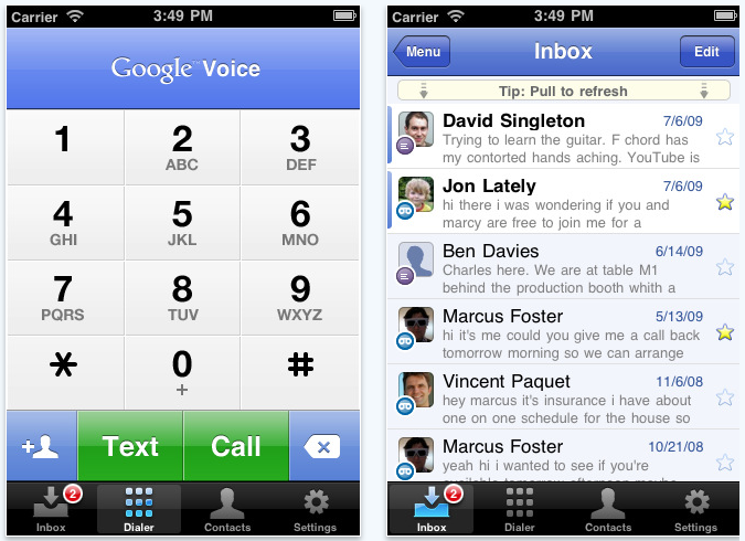 Google Voice app updated, not supports iPad, iPod touch  iMore
