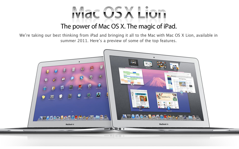 Apple releases Mac OS X Lion developer preview