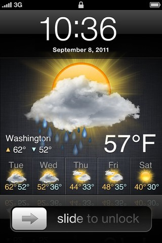 Lock Screen Weather app adds weather to the iPhone Lock screen
