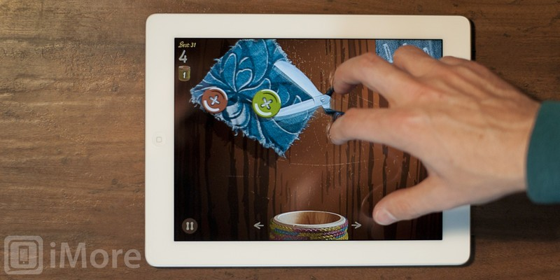 Play with scissors without the danger or the mess in Cut the Buttons for iPhone and iPad