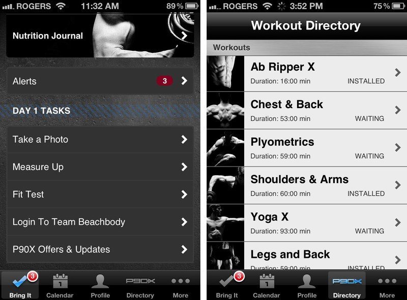 P90X for iPhone does a great job getting you started, but also offers a good variety of exercises to keep you going.