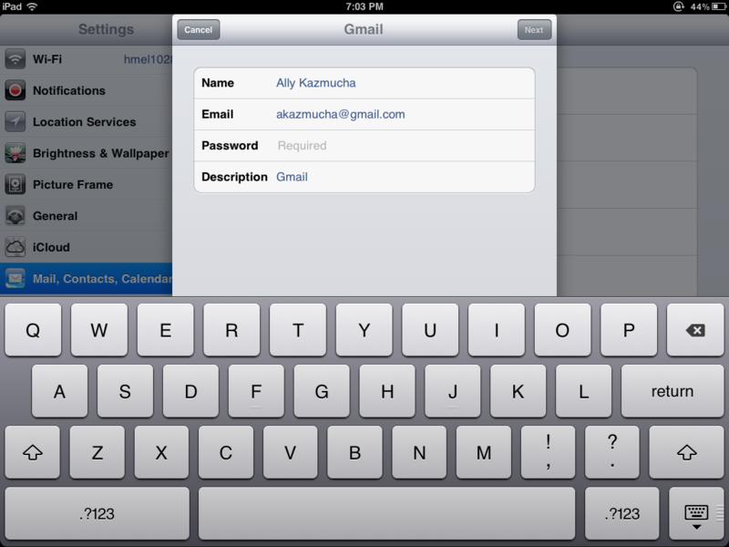 How to add your existing email to your iPad