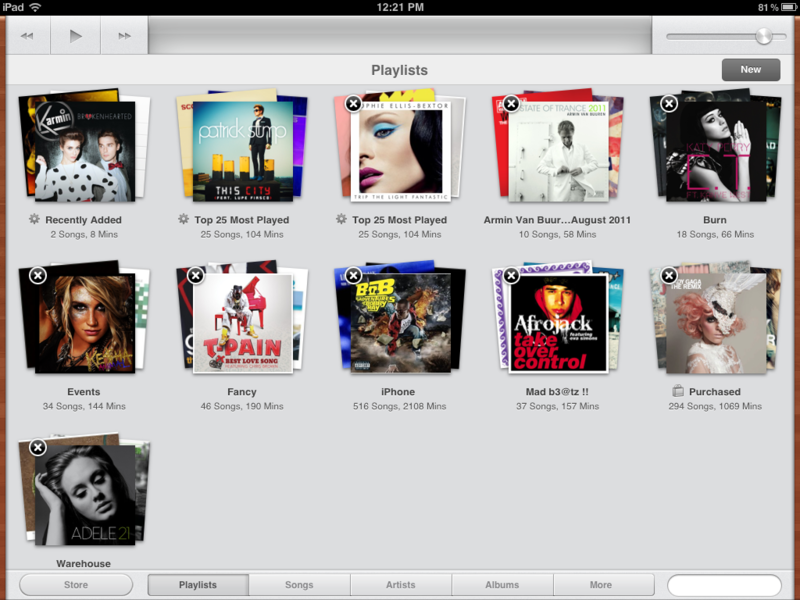 How to delete a playlist from your new iPad