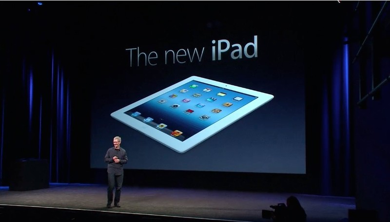 The new iPad and the new Apple