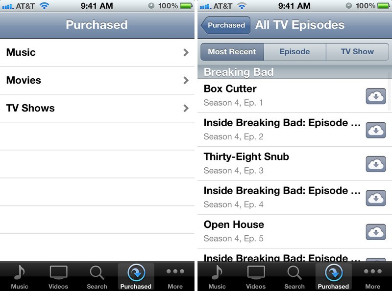 How to access iTunes in the Cloud TV shows on your iPhone, iPad