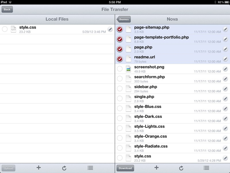 Textastic for iPad workflow