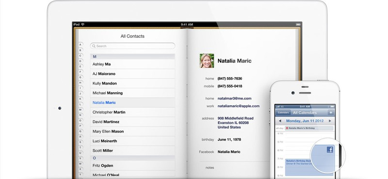 Facebook and Contacts in iOS6