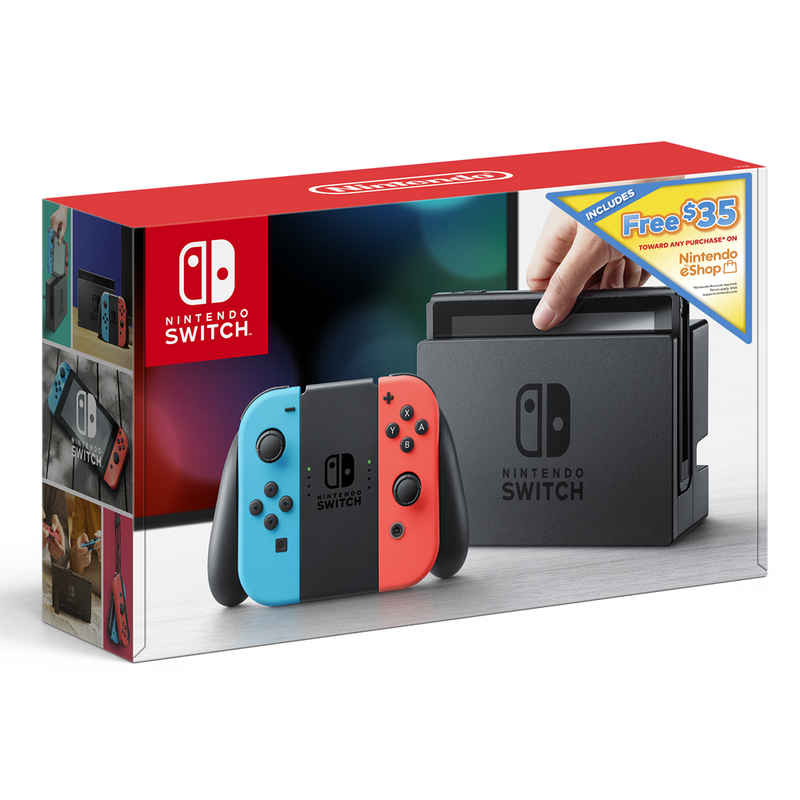 This Nintendo Switch bundle comes with $35 towards the game of your choice