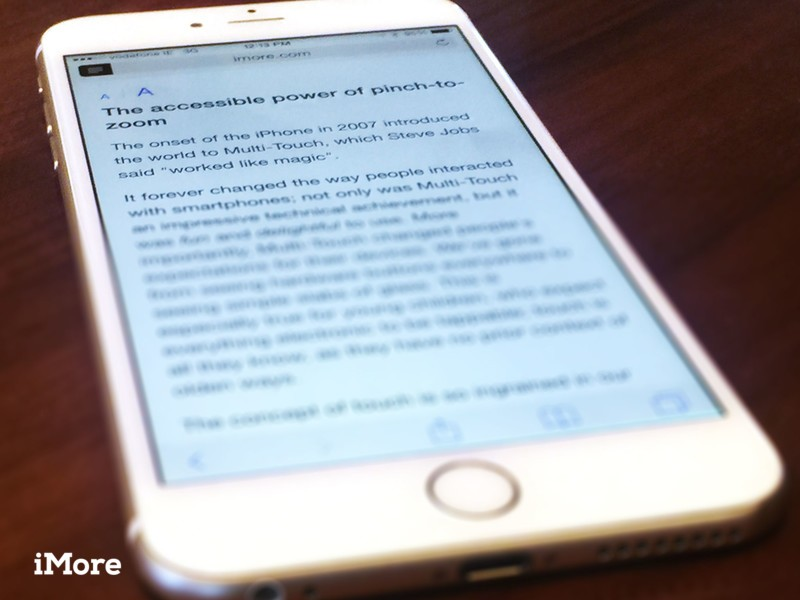 Safari Reader view and instant accessibility