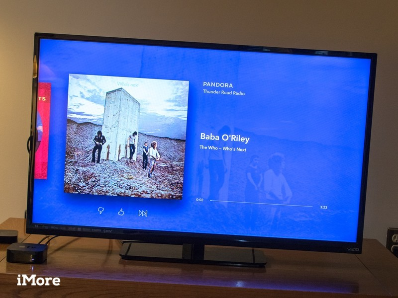 Pandora now playing on the new Apple TV