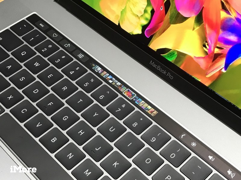 13-inch MacBook Pro with Touch Bar close up