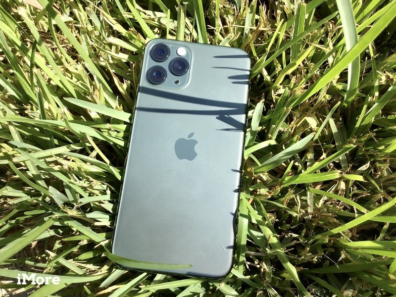 Midnight Green iPhone 11 Pro in grass
