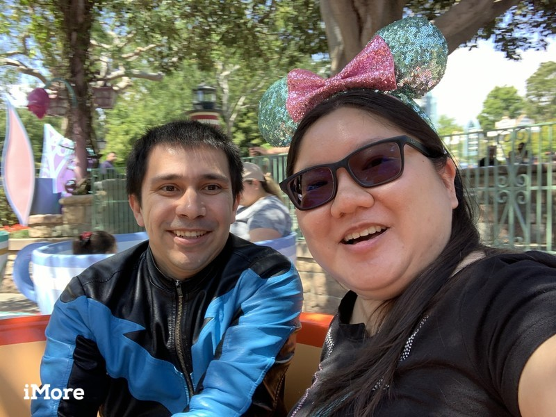 Christine and Robert in Alice Teacups at Disneyland