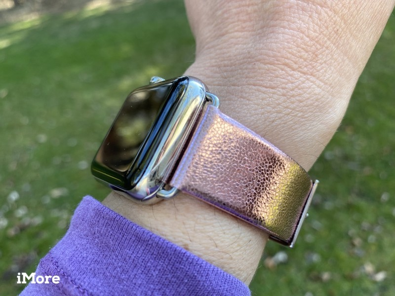 LAUT METALLIC Leather Strap for Apple Watch