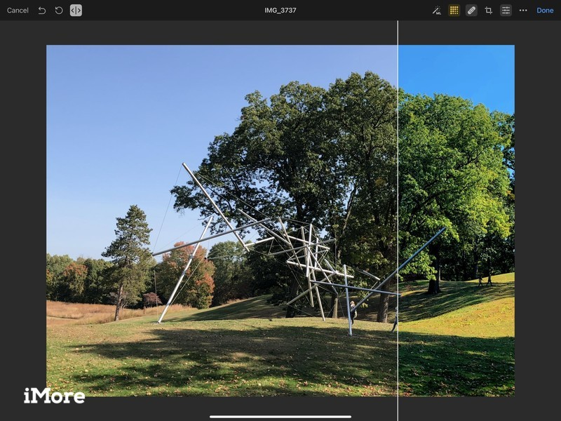 Pixelmator Photo Comparison Slider Ipad