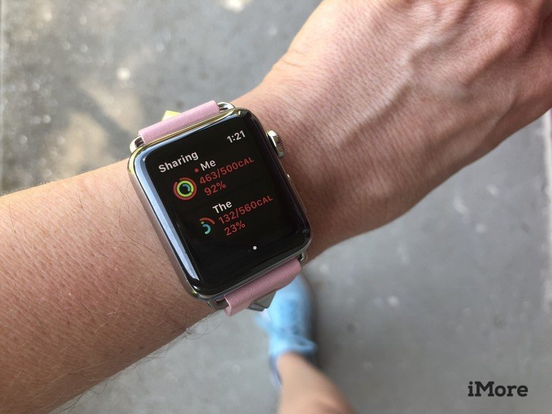 Activity sharing on Apple Watch