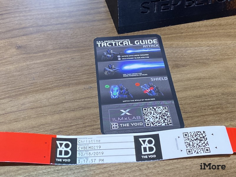 The Void wristband and tactical guide card