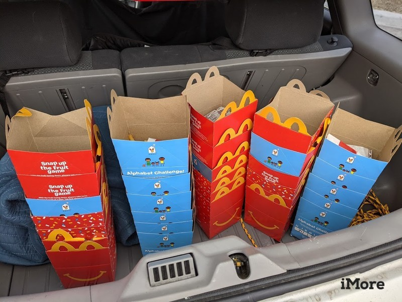 Mcdonalds Happy Meal Boxes Back Of Car