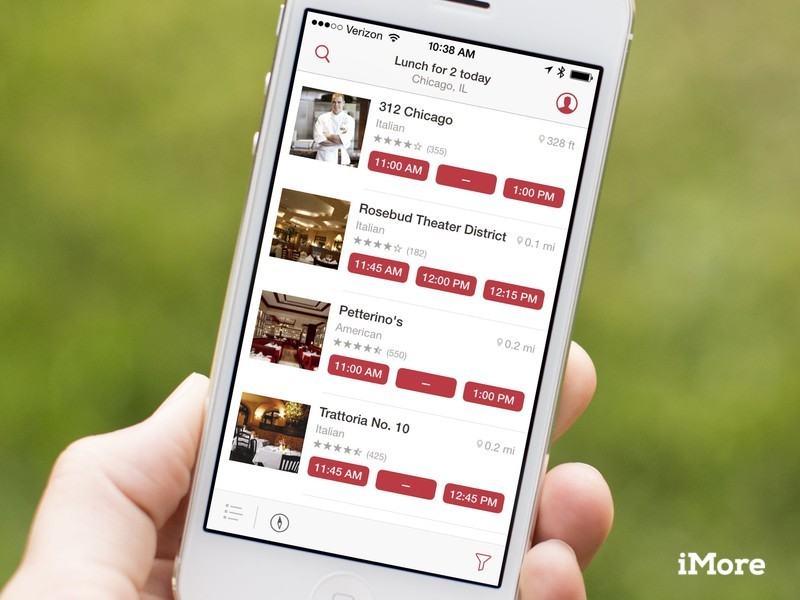 OpenTable on iPhone